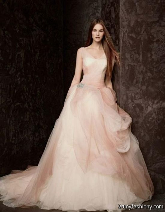 vera wang pink wedding dress 2016-2017