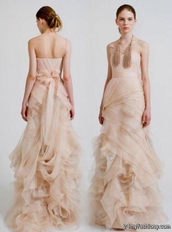 Vera wang pink wedding dress 2016 2017 b2b fashion for Wedding dresses by vera wang 2017