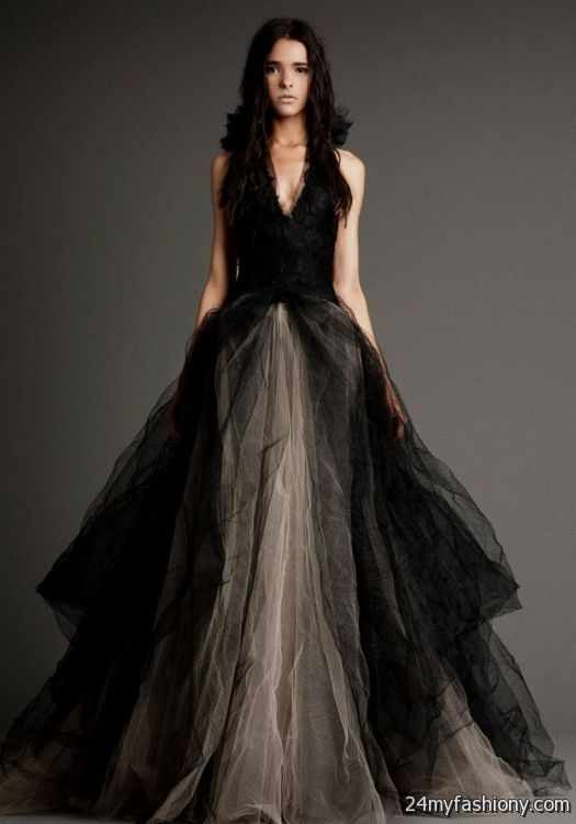 Vera Wang Black Wedding Dresses 2017