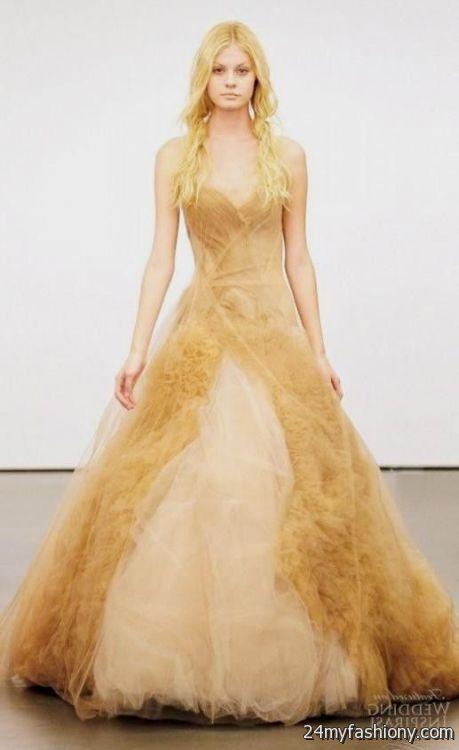 Vera wang yellow wedding dress 2016 2017 b2b fashion for Wedding dresses by vera wang 2017