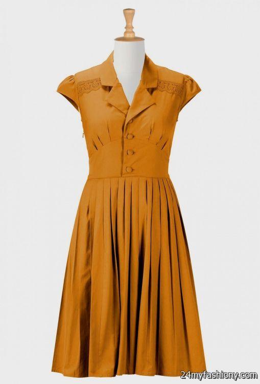 vintage casual dresses 2016-2017