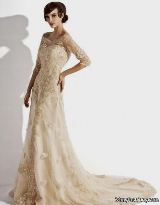 Vintage Wedding Dresses For 2017 : Vintage champagne wedding dresses  ? b fashion