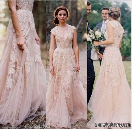 Vintage Lace Bridesmaid Dresses Peach Looks