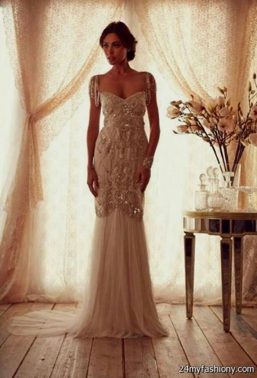 Vintage Wedding Dresses For 2017 : Vintage sheath wedding dress b fashion