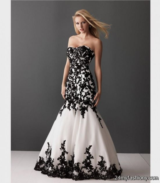 white with black lace prom dress | Gommap Blog
