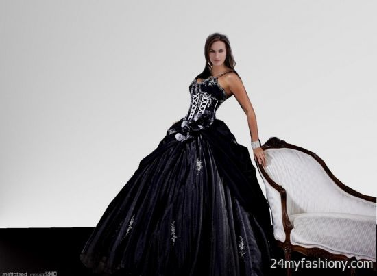 White And Black Quinceanera Dresses 2014
