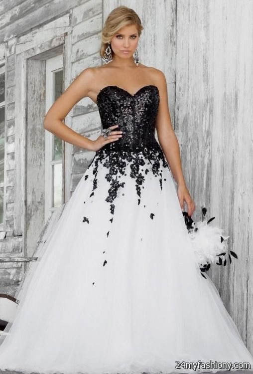 65477963019 white and black quinceanera dresses looks