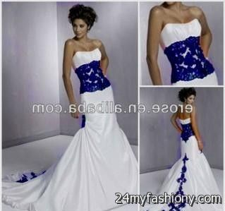 You Can Share These White And Blue Mermaid Wedding Dresses On Facebook Stumble Upon My Space Linked In Google Plus Twitter All Social Networking