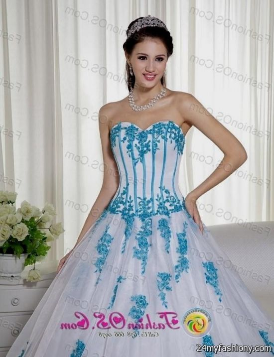 9dd7f3e7cbd You can share these white and blue quinceanera dresses on Facebook