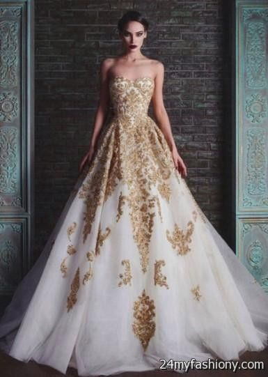 white and gold ball gowns 2016-2017 » B2B Fashion