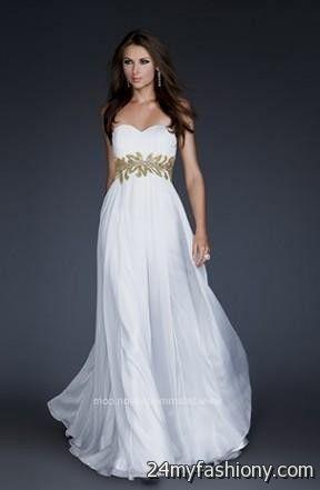 white and gold goddess prom dress 2016-2017 » B2B Fashion