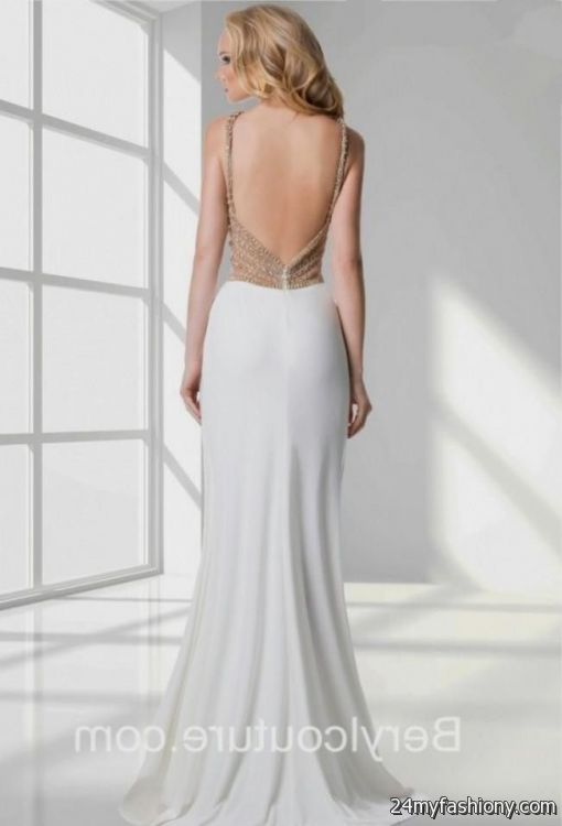 white and gold open back prom dress 2016 2017 b2b fashion white and gold open back prom dress 2016 2017 b2b fashion