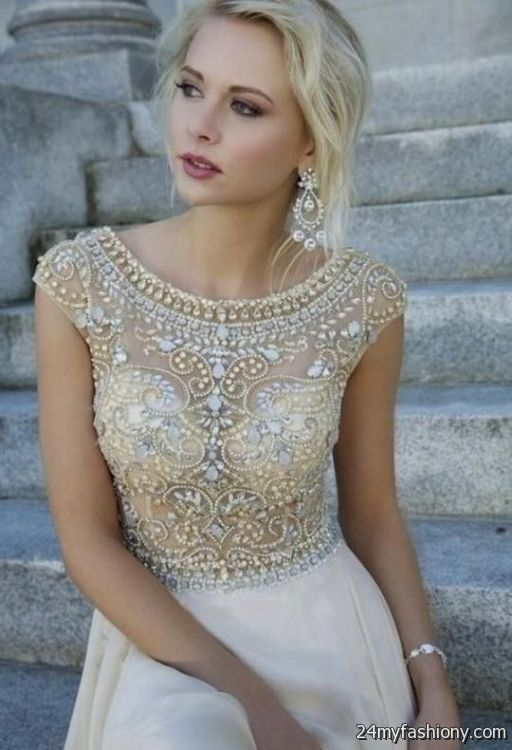 Modern Gold And White Prom Dress Gift - Wedding Plan Ideas ...