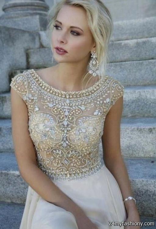 white and gold prom dress 2016-2017 | B2B Fashion