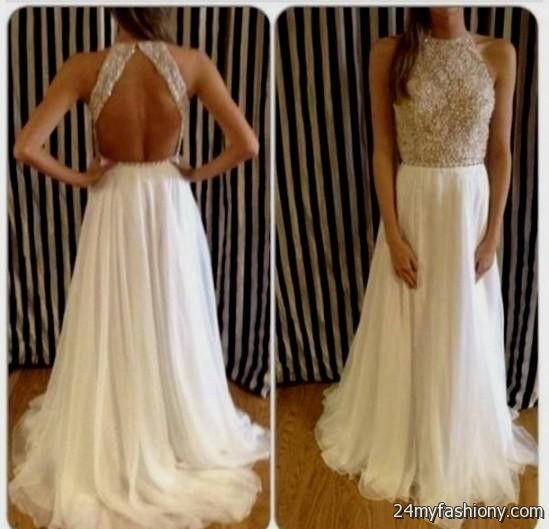b0ad7e36ef4 You can share these white and gold prom dresses tumblr on Facebook