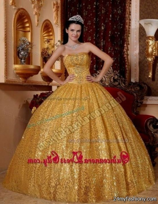 c3ab4fab3ca You can share these white and gold quinceanera dresses tumblr on Facebook