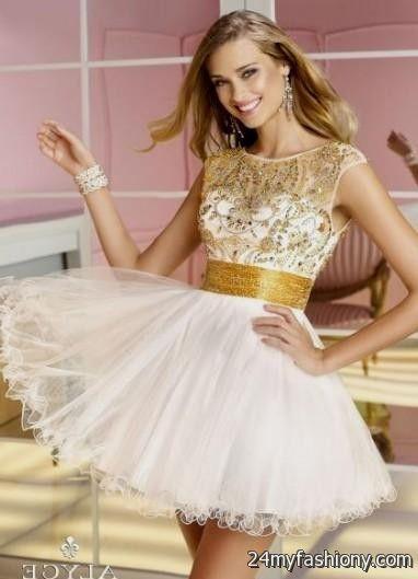 white and gold short dress 20162017 b2b fashion