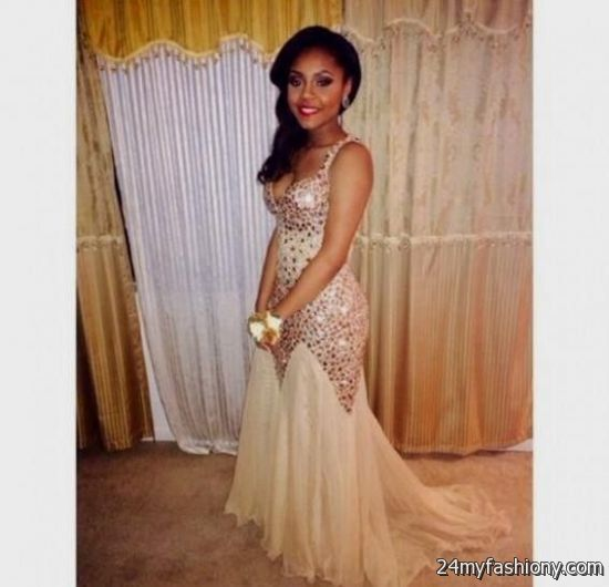 White and gold prom dress strapless