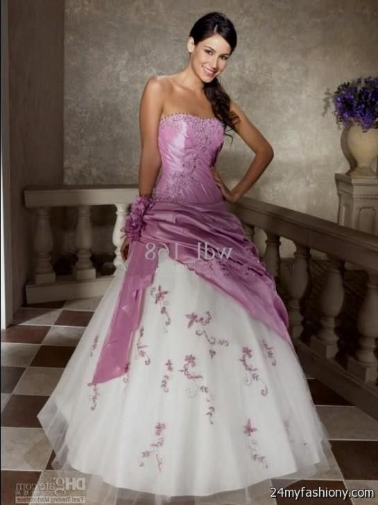 white and lilac wedding dress 2016 2017 b2b fashion