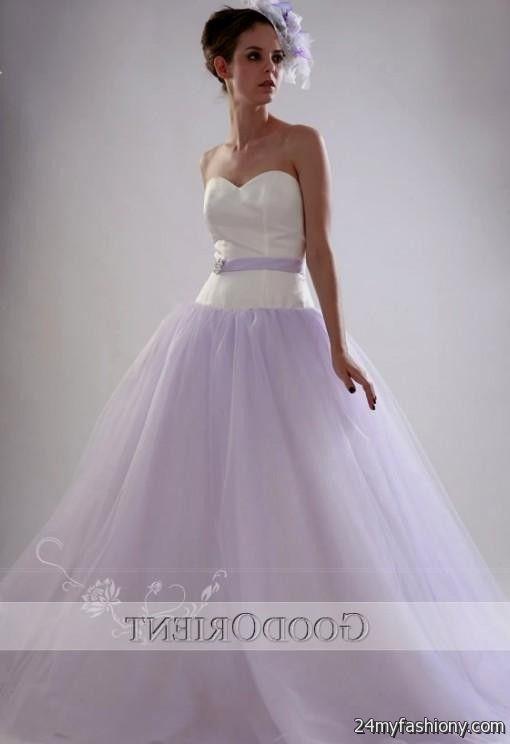 white and lilac wedding dress 20162017 b2b fashion