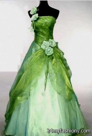 White And Lime Green Wedding Dresses 2016 2017 B2B Fashion