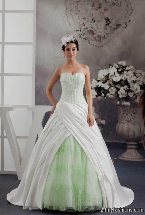 White And Lime Green Wedding Dresses 2016 2017 B2b Fashion