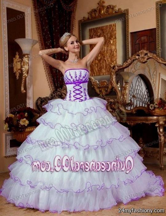 white and purple sweet 16 dresses 2016-2017 » B2B Fashion