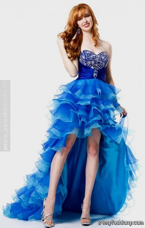 White Blue Prom Dresses - Boutique Prom Dresses