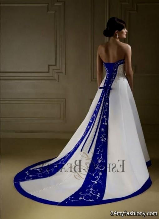 Royal Blue And White Plus Size Wedding Dresses Wedding Dresses