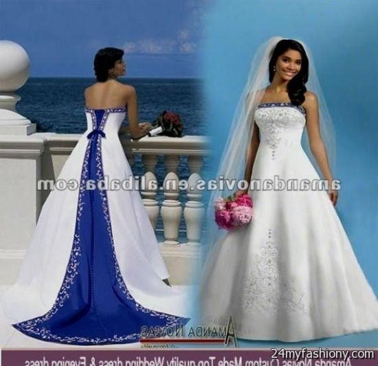 Blue wedding dress plus size – Dress and bottoms