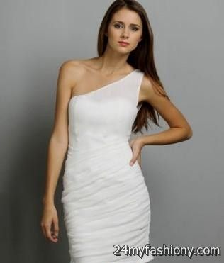 Plus Size White Bachelorette Party Dress 74