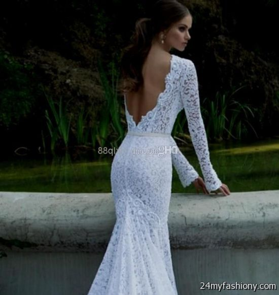 White Backless Long Sleeve Prom Dress Looks