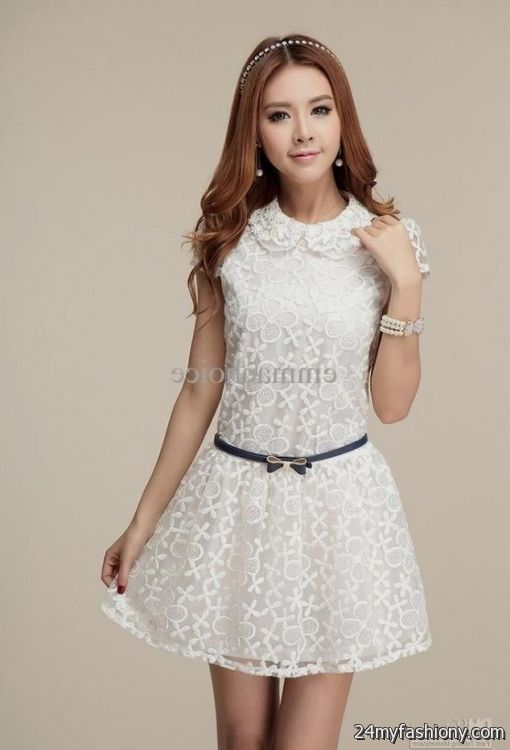 white casual dress with sleeves 2016-2017 » B2B Fashion