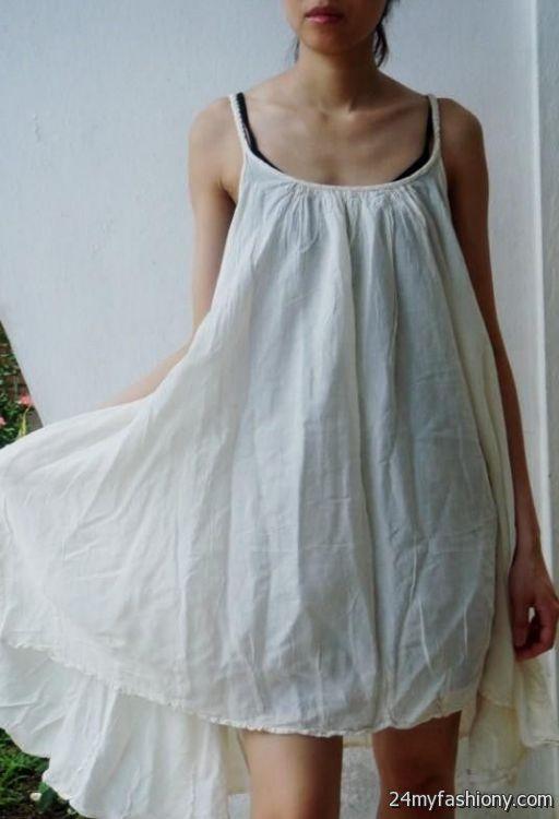 White Cotton Sundress Looks B2b Fashion