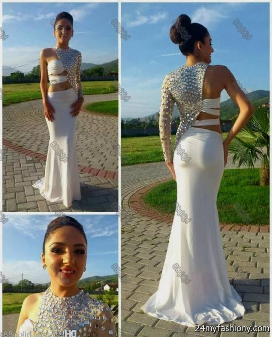Fitted White Prom Dresses - Ocodea.com