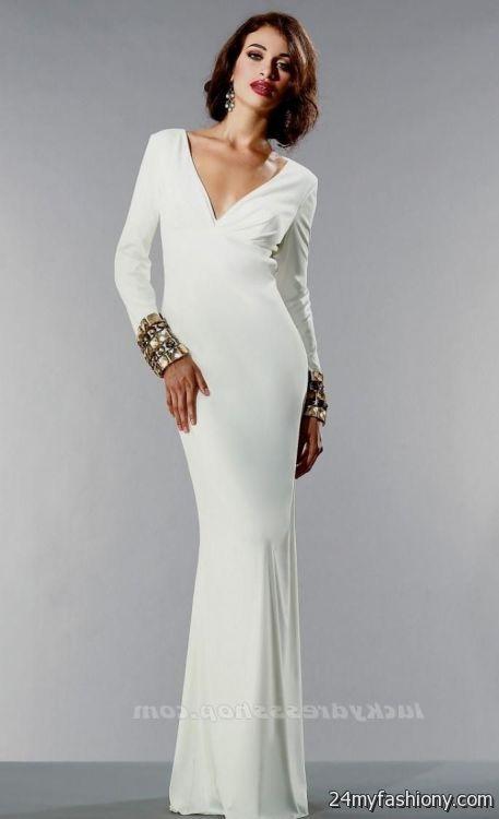 white formal dresses with sleeves 2016-2017 » B2B Fashion