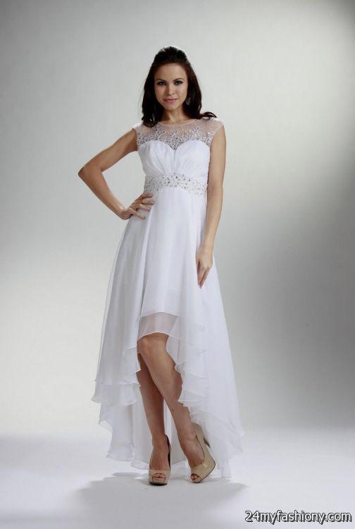 white high low dresses looks | B2B Fashion