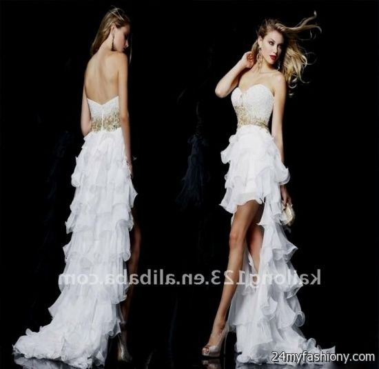 white high low prom dress 2016-2017 » B2B Fashion