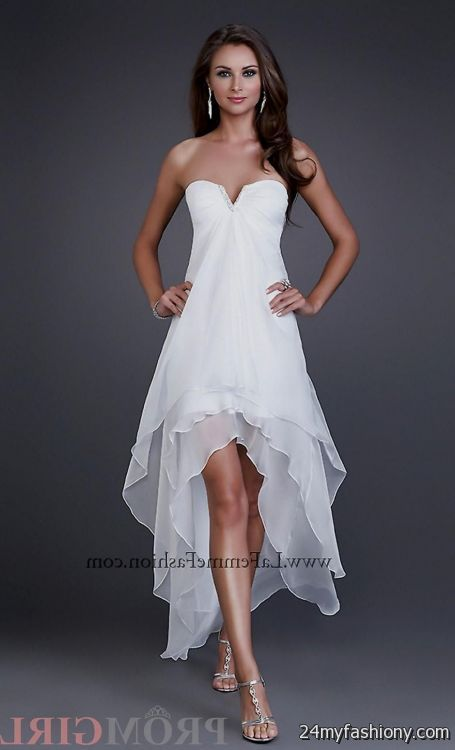 You Will Be The Queen Of Ball In One These Elegant And Poised Prom Dresses Can Share White High Low