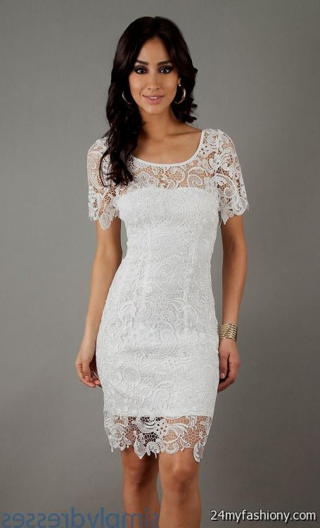 white lace cocktail dress wedding 2016-2017 | B2B Fashion