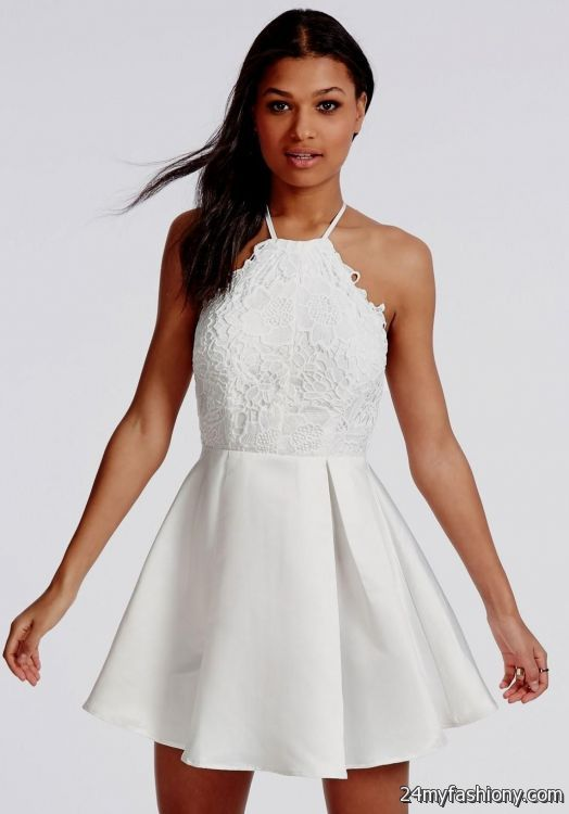 white lace skater dress with sleeves 20162017 b2b fashion