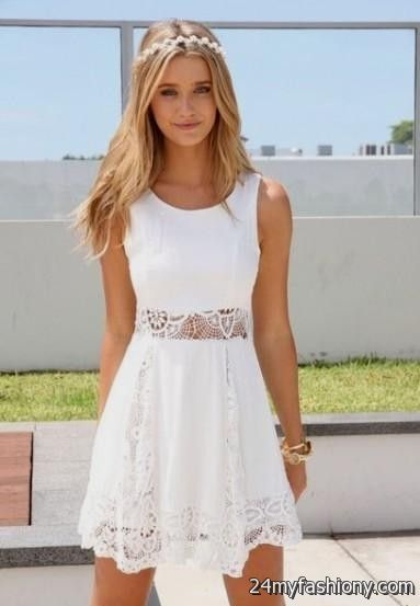 white lace summer dresses 2016-2017