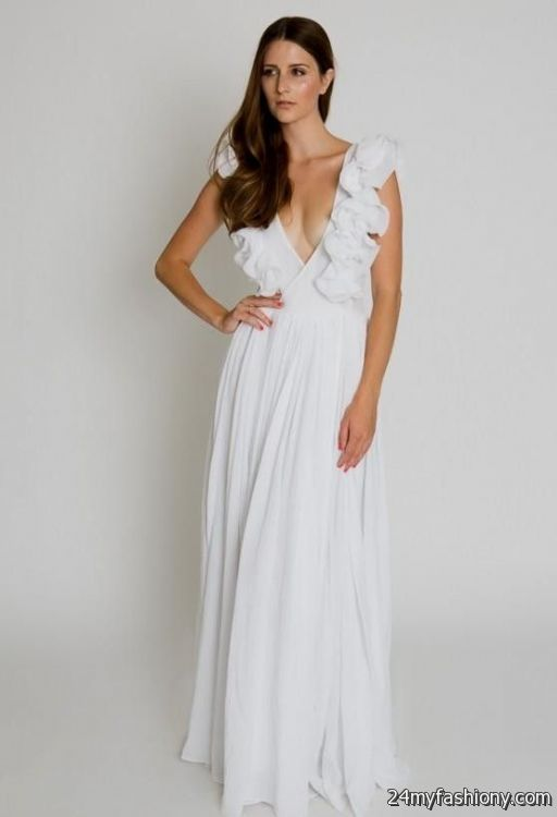 White Maxi Dresses For Weddings 2016 2017