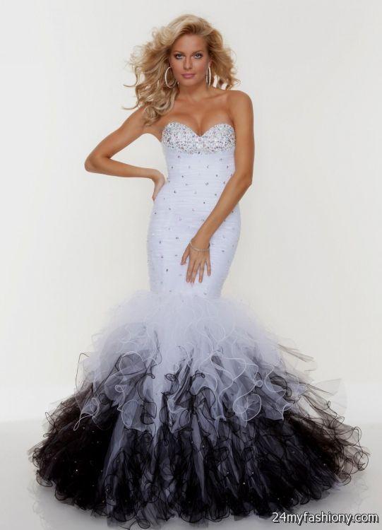 white mermaid prom dresses 20162017 b2b fashion