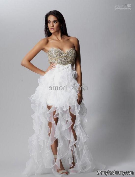 White Prom Dresses Short In Front Long In Back Looks B2b