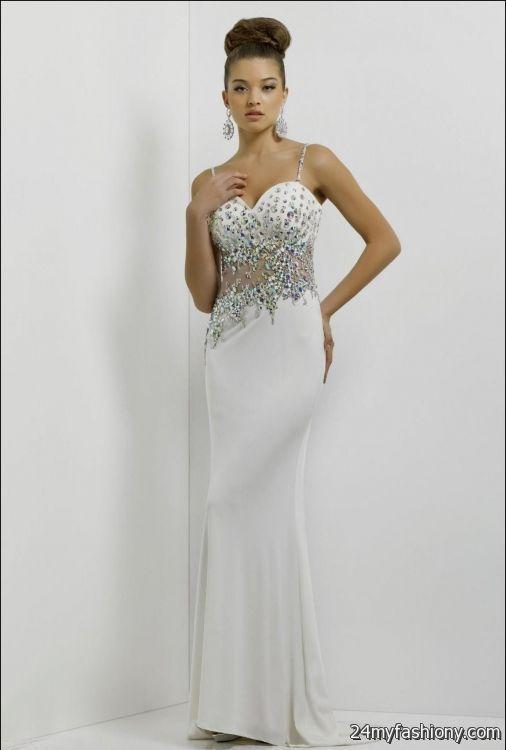 White Prom Dresses With Diamonds Looks B2b Fashion