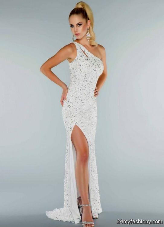 white sparkly prom dress 2016-2017 | B2B Fashion