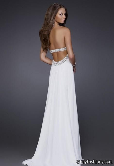 Images of White Strapless Prom Dress - Brida