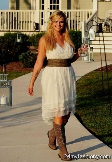 bbd9de5e80d You can share these white summer dresses with cowboy boots on Facebook