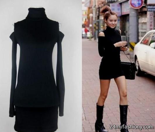Winter black dress outfits 2016-2017 » B2B Fashion